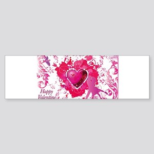 Love and Valentine Day Bumper Sticker