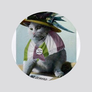 "Suffragette Cat 3.5"" Button"