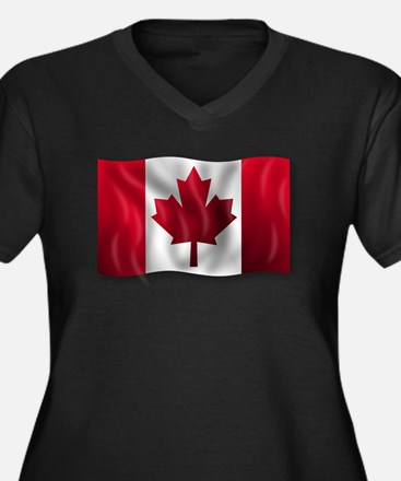 Canada Flag Plus Size T-Shirt