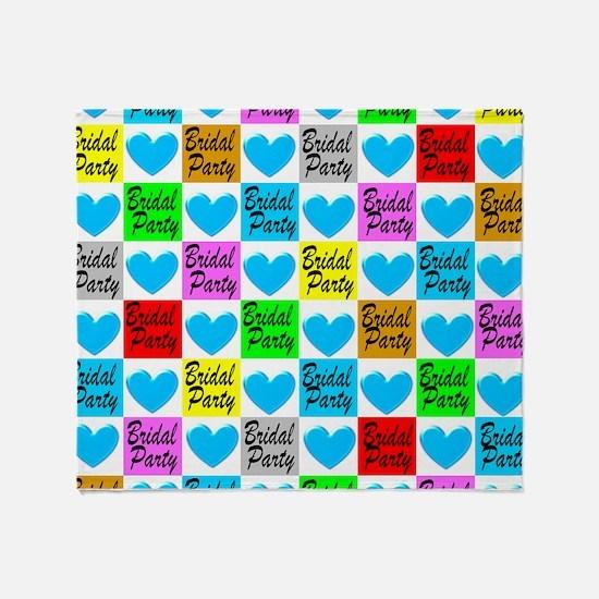 BLUE BRIDAL PARTY Throw Blanket