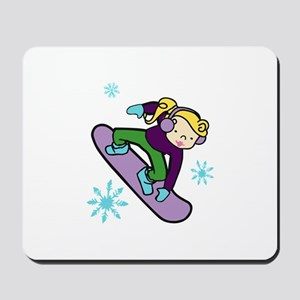 Girl Snowboarder Mousepad