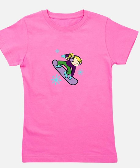 Girl Snowboarder Girl's Tee