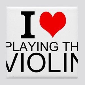I Love Playing The Violin Tile Coaster