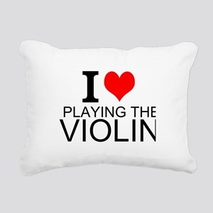 I Love Playing The Violin Rectangular Canvas Pillo
