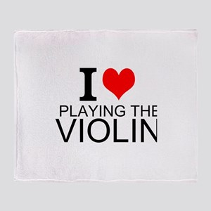 I Love Playing The Violin Throw Blanket