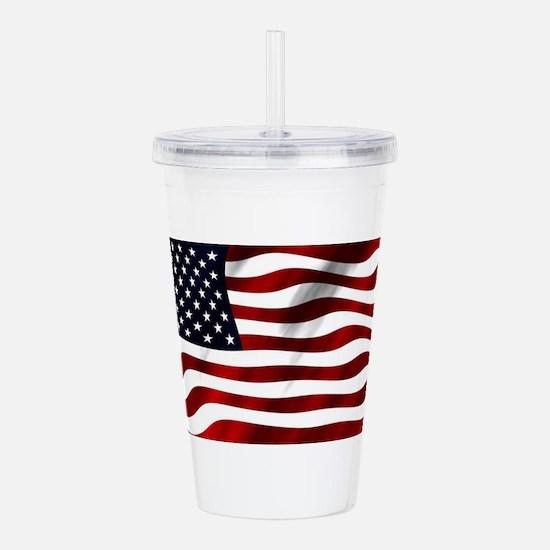 Unique American flag Acrylic Double-wall Tumbler