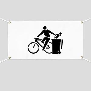 Ride A Bike Not A Car Banner