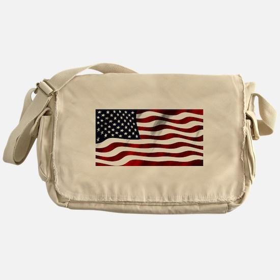 Cute Us flag Messenger Bag