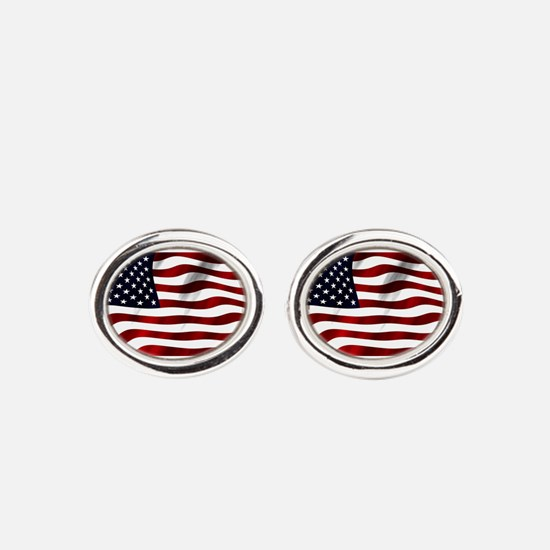 Cute Holiday and events Oval Cufflinks