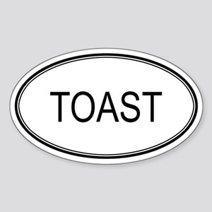 TOAST (oval) Oval Sticker