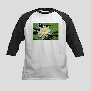 White Lotus Flower Baseball Jersey