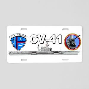 USS Midway CIWS Aluminum License Plate