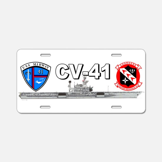 USS Midway VF-161 Aluminum License Plate