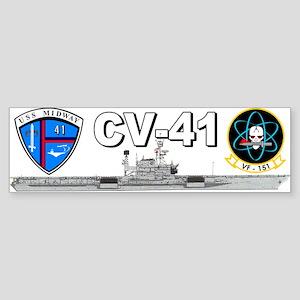 USS Midway VF-151 Bumper Sticker