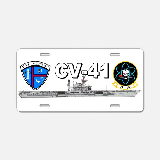 USS Midway VF-151 Aluminum License Plate