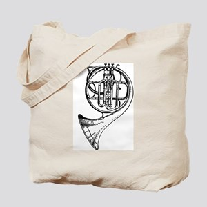 Beautiful Black and White French Horn  Tote Bag