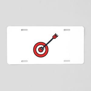 Bulls Eye Aluminum License Plate