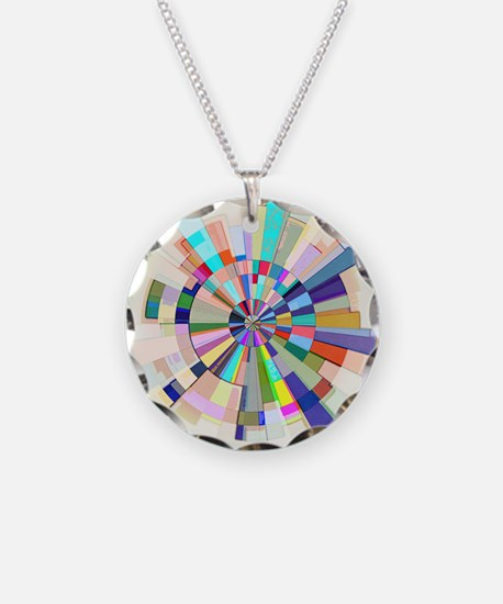 Abstract Color Wheel Necklace