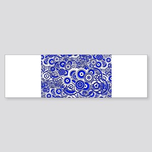 Blue Circle Art Bumper Sticker
