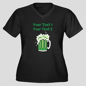 St Paddy's G Women's Plus Size V-Neck Dark T-Shirt