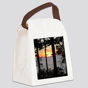 Lake Superior Sunset Canvas Lunch Bag