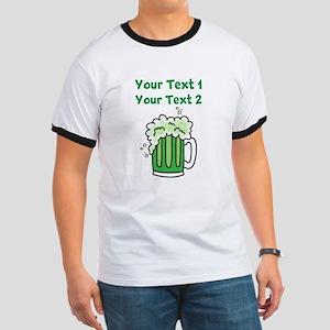 St Paddy's Green Beer Ringer T