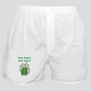 St Paddy's Green Beer Boxer Shorts
