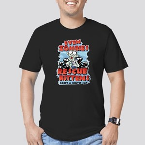 Even Zombies Rescue Ki Men's Fitted T-Shirt (dark)