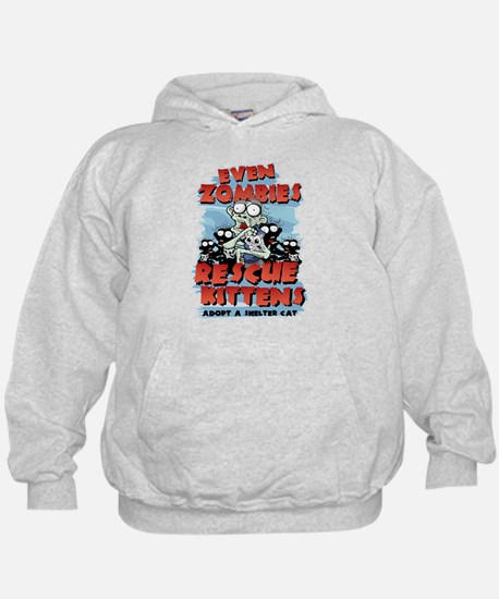 Even Zombies Rescue Kittens Hoodie