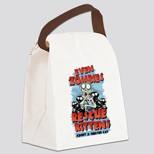 Even Zombies Rescue Kittens Canvas Lunch Bag