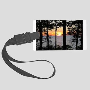 Lake Superior Sunset Luggage Tag