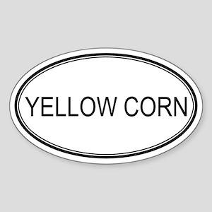 YELLOW CORN (oval) Oval Sticker
