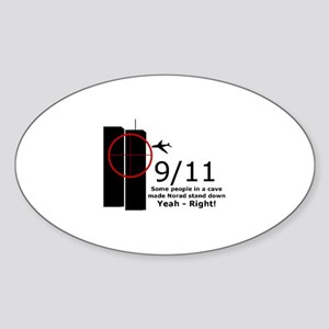9/11 cover up Oval Sticker