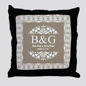 Personalize Bride And Groom Monogrammed Gift Throw