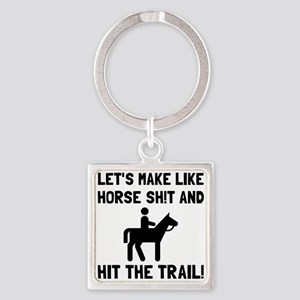 Horse Hit The Trail Keychains