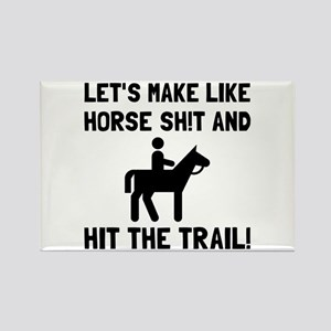 Horse Hit The Trail Magnets
