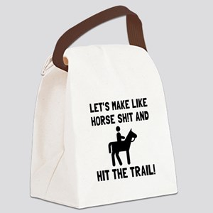 Horse Hit The Trail Canvas Lunch Bag
