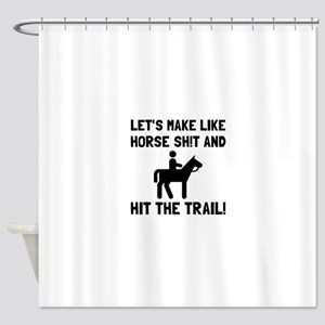Horse Hit The Trail Shower Curtain