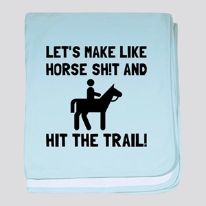 Horse Hit The Trail baby blanket