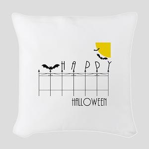 Happy Halloween Woven Throw Pillow