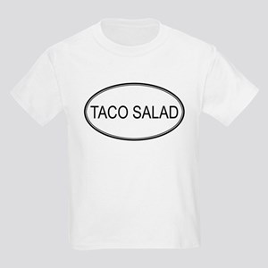 TACO SALAD (oval) Kids Light T-Shirt