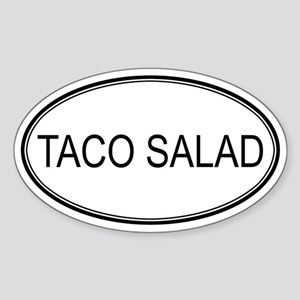 TACO SALAD (oval) Oval Sticker
