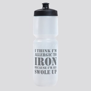 Allergic to iron all swole up Sports Bottle