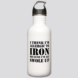 Allergic to iron all swole up Water Bottle