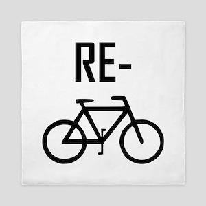 Recycle Bicycle Bike Queen Duvet