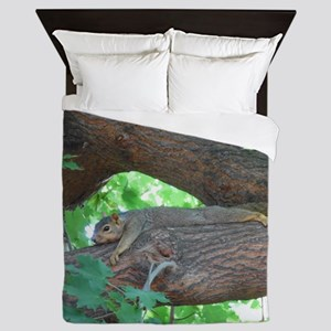 Tree Squirrel Queen Duvet
