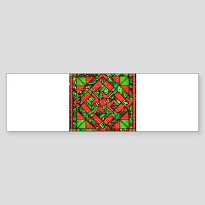 Wild Holiday Quilt Bumper Sticker