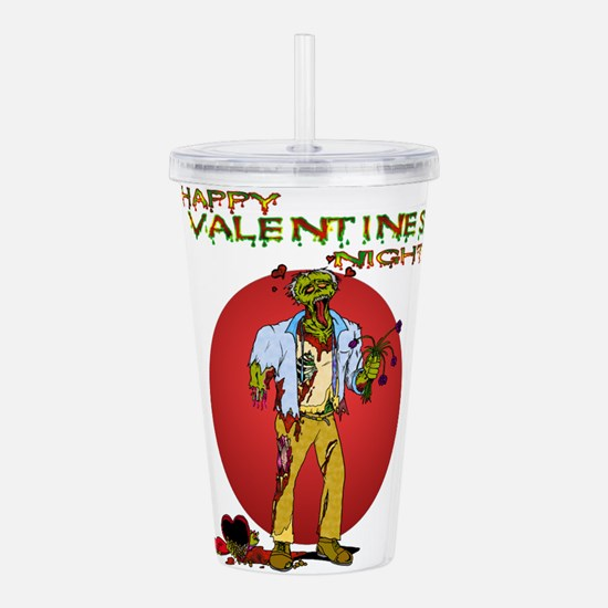 Zombie Valentines Day Acrylic Double-wall Tumbler