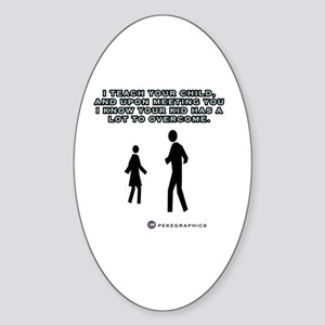 Overcoming Parents Sticker (Oval)