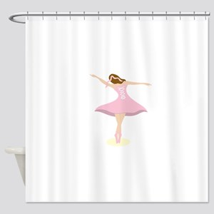 Ballerina Girl Shower Curtain